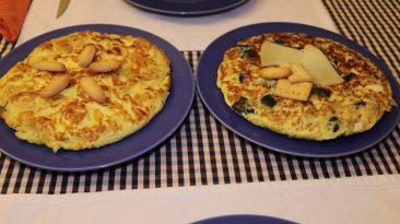 CUINA RÀPIDA: Truites ràpides de patata i de carbassó amb formatgets (quesitos)