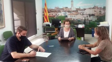 L'Ajuntament signa un conveni amb Joventut Bisbalenca CF per a la promoció del futbol